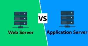 How is a Web Server different from any Application Server